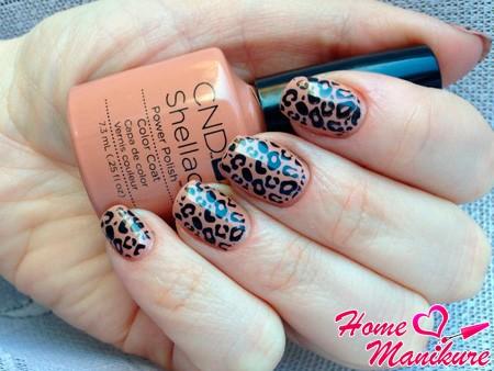 леопардовый стемпинг маникюр
