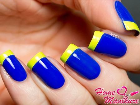 желто-синий френч
