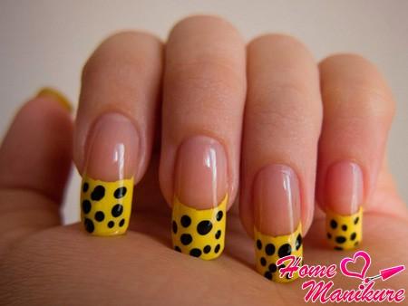 желтый френч леопард