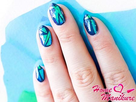 стеклянный дизайн ногтей