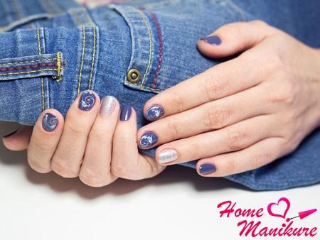 дизайн ногтей под джинсы
