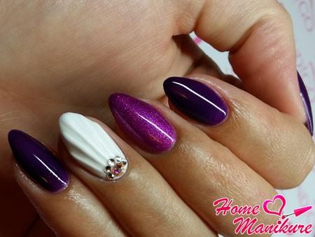 эффект ракушки на одном ногте
