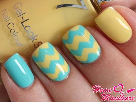 отличный летний дизайн ногтей