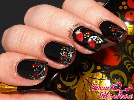хохломская роспись ногтей