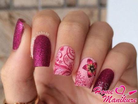 красивый песочный дизайн ногтей
