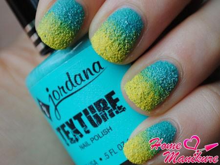 летний песочный дизайн ногтей