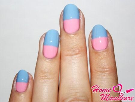нежное сочетание голубого и розового