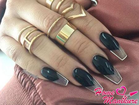 роскошный френч на ногтях балерина