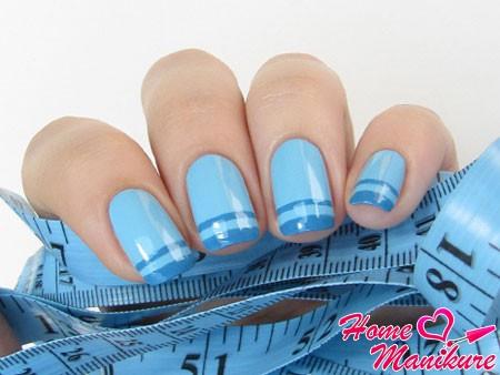 стильный голубой френч