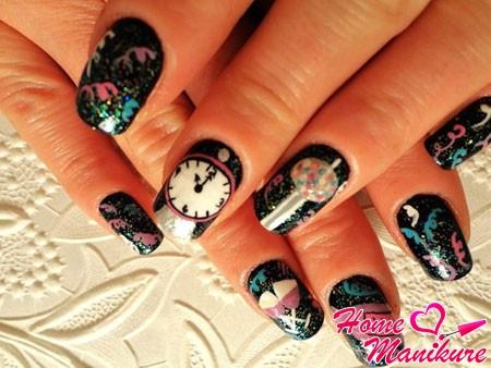 праздничный дизайн ногтей на Новый год