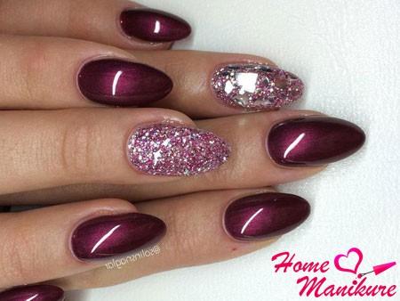 Дизайн вишневый цвет ногти