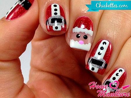 маникюр с Дедом Морозом