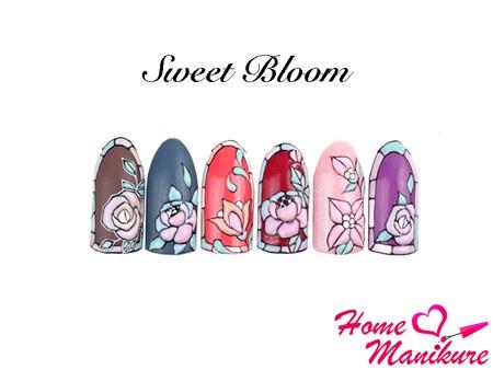 цветочный нейл-арт в стиле Sweet Bloom