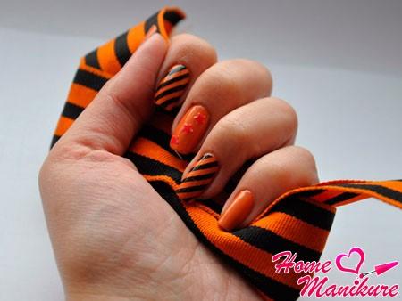дизайн ногтей на 9 мая