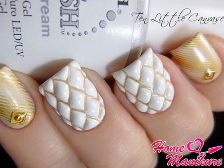 роскошный стеганый дизайн ногтей