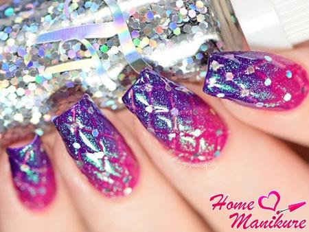 яркий стеганый дизайн ногтей