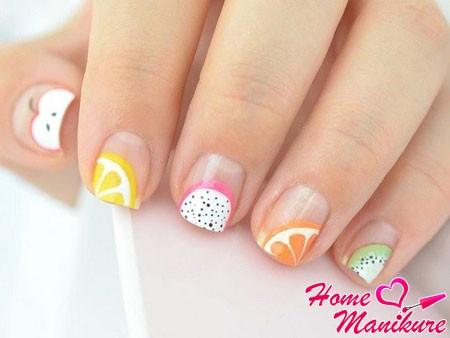 фруктовые кончики ногтей