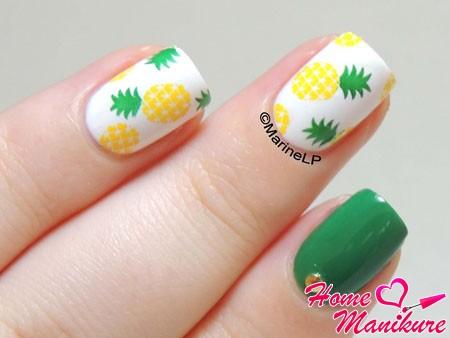 красивый летний дизайн ногтей