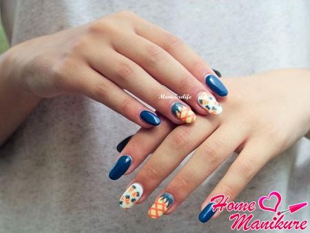 очень стильный дизайн ногтей