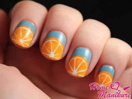 простые рисунки апельсинов