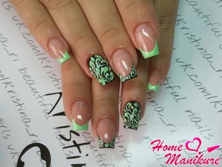 роскошный дизайн ногтей