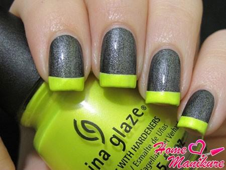 салатово-серый френч