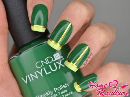 шикарный зеленый френч